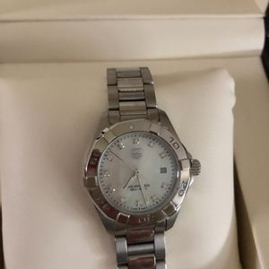 Authentic Tag Heuer Aquaracer MOP and Diamond Dial